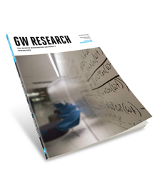 Cover of the latest issue of the GW Research Magazine