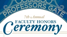 2017 Faculty Honors Ceremony Recipients
