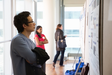 Research Advisor Reviews Research Posters, 2015.