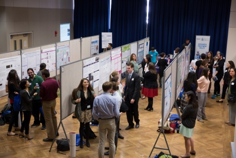 Student Presenters with their Research Posters in the Marvin Center, 2015.
