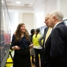 Student Presents Research to President Knapp and Dr. Chalupa, 2013